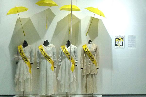 dresses with yellow umbrella