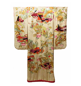 Silk Japanese Uchikake; c. Early 20th Century; Gift of Perez-Mesa