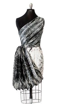 Digitally Printed Silk Shantung Dress by Amanda Smith; 2015