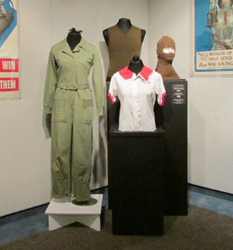 1940s WAC Coveralls, Remade Men's Shirt, American Red Cross Woolen Knits