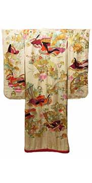 Japanese Silk Uchikake (Early 20th Century) Gift of Perez-Mesa
