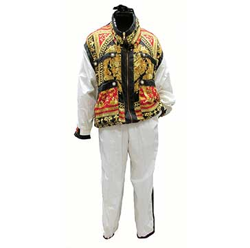 Polyester Windbreaker Suit by Gallery (1985) Gift of Roets Dorband