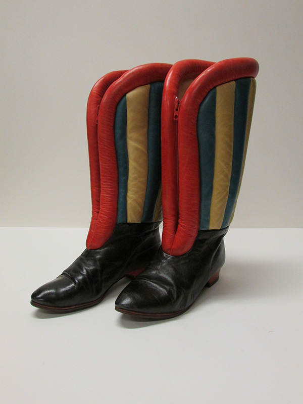 Boots from Endangered exhibit