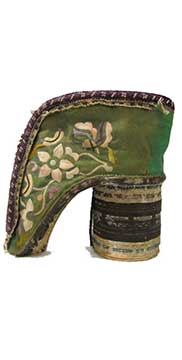 3-Inch Chinese Silk Lotus Shoe (Late 19th Century) Gift of Boone County Historical Society