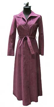 Faux Ultrasuede Shirtdress by Samuel Robert (1973) Gift of McCleary
