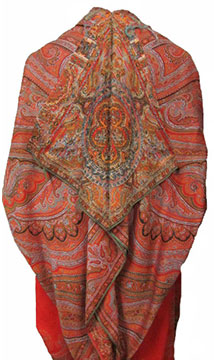 Wool Paisley Cloak; c. 1910s; Gift of Fields