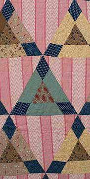 Cotton Smoothing Iron Variation Triangle Quilt (1850s) Gift of Cornett Family