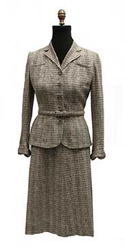 Wool Tweed Suit by Towncliffe (1940s) Gift of Moore