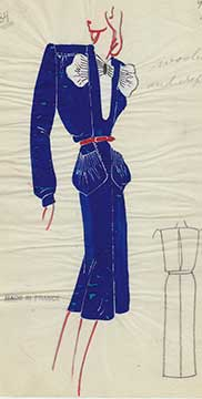 Fashion Illustration by Caroline Gershel Davis Style Service (1930s-40s)