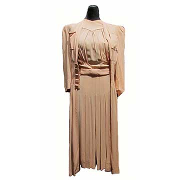 Rayon Dress and Jacket by Dorsa with FOGA Label (1940s)