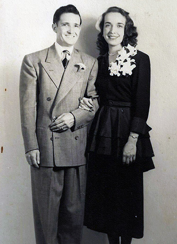 Spence and Hare Wedding Portrait (1948)