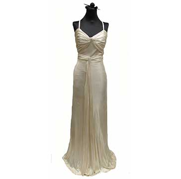 Silk Knit Evening Dress with FOGA Label (1930s) Gift of Brisley