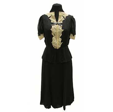 Silk Chiffon Dress (1948) Gift of Bernette