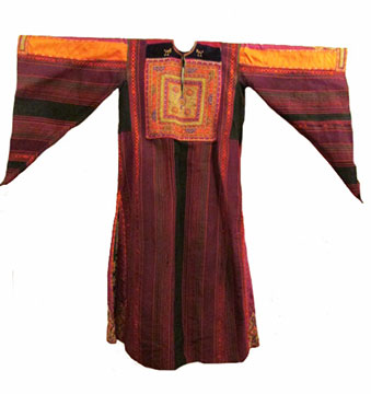 Silk and Cotton Palestinian Thawb; c. Early 20th Century; Gift of Kennedy
