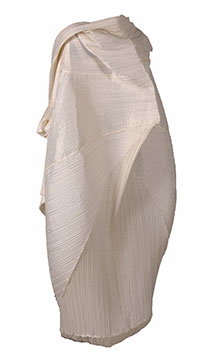 Polyester Dress with Hood by Issey Miyake; c. 1994; Gift of Roets-Dorband
