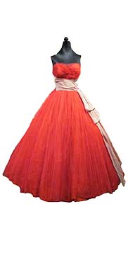 Tulle Evening Gown (1956) Gift of Brisley