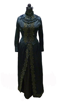 Silk Satin Beaded Wedding Dress (1886)