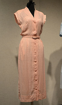 Linen Dress; c. 1950s; Collection Purchase