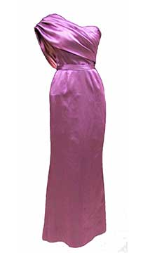 Silk Satin Evening Gown by Mirian Gates; c. 1955; Gift of McCleary/Anheuser