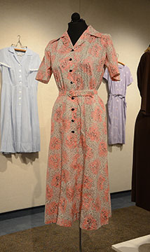 Cotton Dress; c. Mid 1940s; Gift of Cortelyou