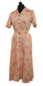Cotton Dress by Nelly Don (Early 1940s) Gift of Cortelyou