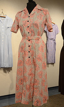 Cotton Dress; c. Mid-1940s; Gift of Cortelyou