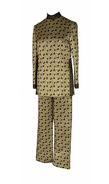 Metallic Tunic and Pant Ensemble by Mollie Parnis; c. 1969; Gift of McCleary/Anheuser