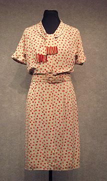 Rayon Dress; c. 1940s; Loan by O'Malley