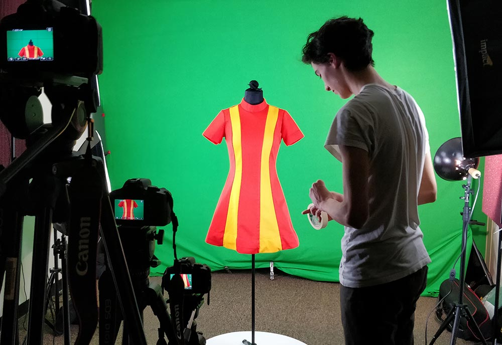 dress being photographed