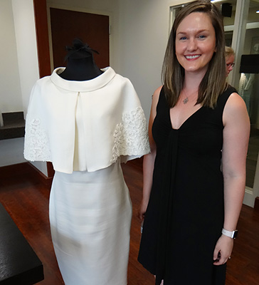Dr. Ashley Hasty with Anniversary Gown
