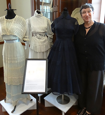 Dr. Jean Parsons with Family Wedding Gowns