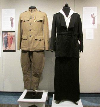 Men's 1917 Wool Army Uniform; Women's 1910s Wool Suit