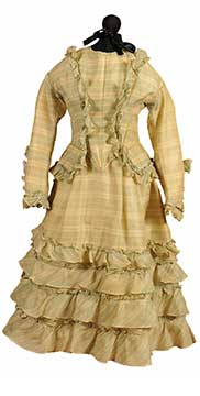 Girl's Silk Grenadine Bodice and Skirt (1872) Gift of McGuire