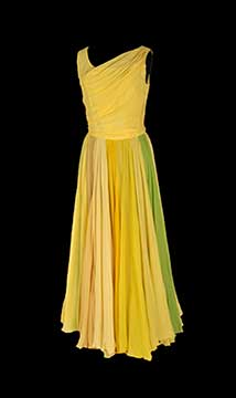 Silk Chiffon Evening Gown by Rosemarye; c. 1960s; Gift of Hearnes