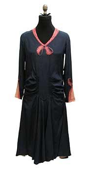 Silk Dress with Trompe L Oeil Bows (Late 1920s)