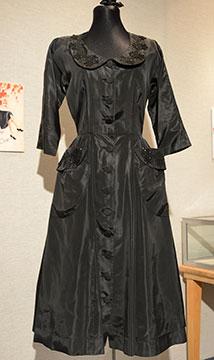 Silk Taffeta Dress; c. Late 1940s to Early 1950s; Gift of Smith