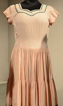 Cotton Dress; c. Late 1930s to Early 1940s; Collection Purchase