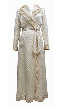 Quilted Silk Satin Dressing Robe; c. 1948s; Gift of McCleary/Anheuser