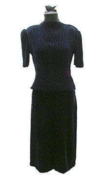 Silk Velvet Wedding Dress (1938)