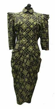 Screen Printed Dress by Zandra Rhodes (Mid 1980s) Gift of Roets Dorband