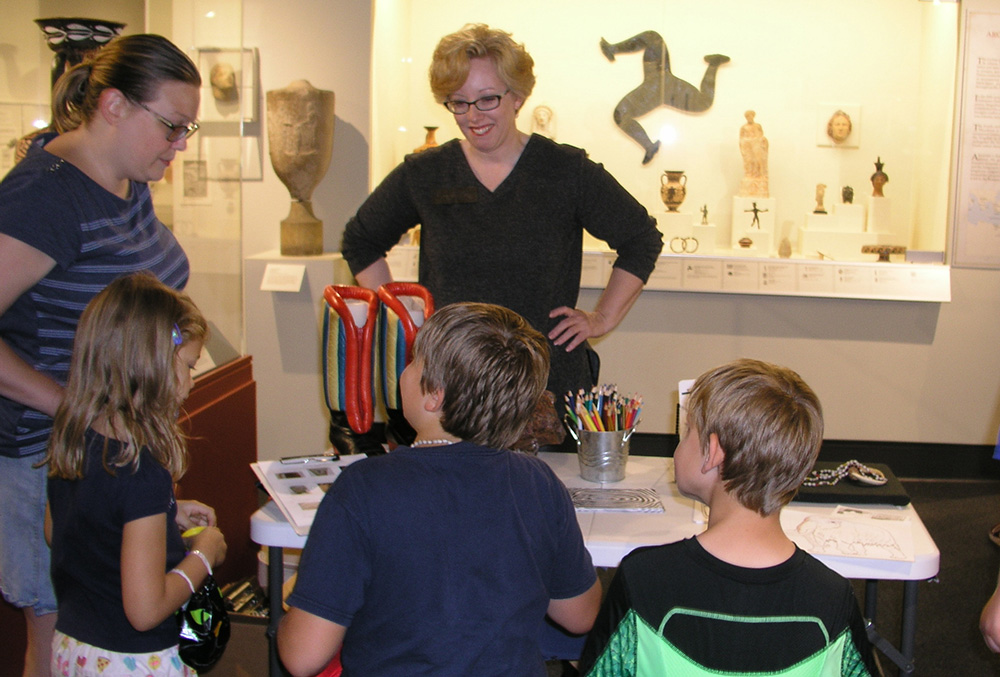 Nicole Johnston with students