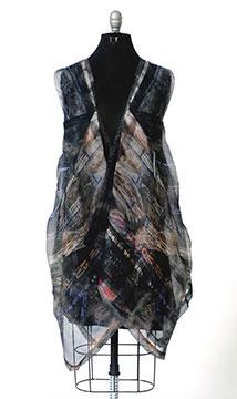 Digitally Printed Silk Organza Dress by Kathleen Kowalski; 2015