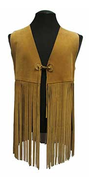 Fringed Leather Vest (1970s) Gift of Kauffman