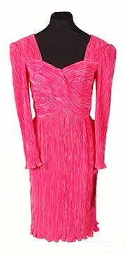 Polyester Dress by Joan Leslie Evening (1993) Gift of Tofle