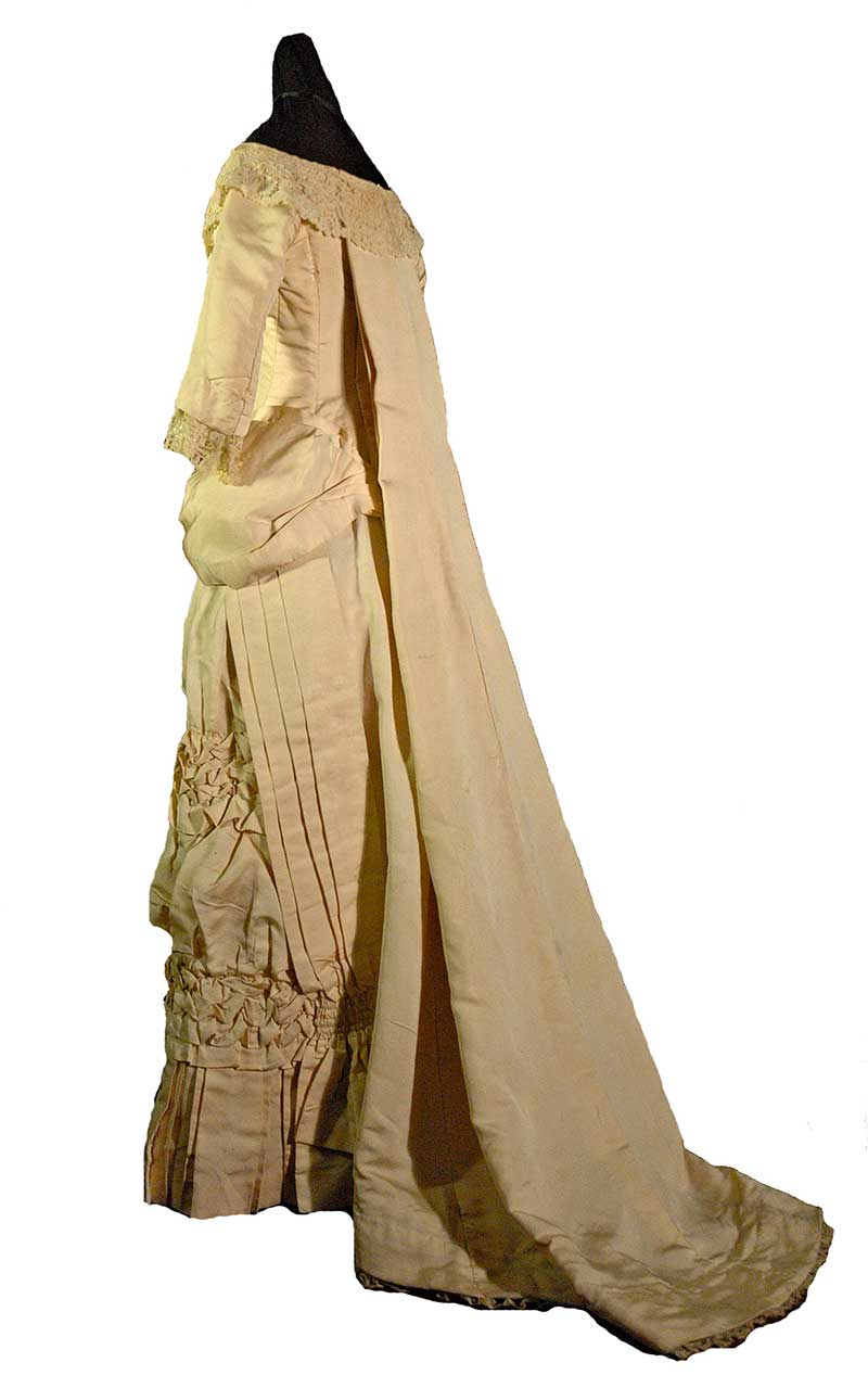 Silk Wedding Gown with Watteau Back (1876)