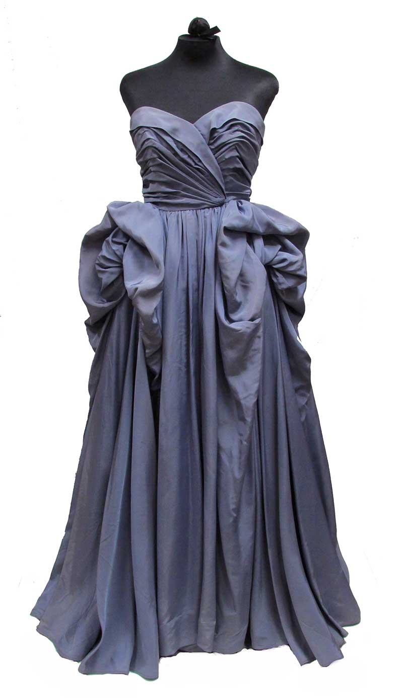 Silk Taffeta Evening Gown by Martini Designed (Early 1950s) Gift of Happel