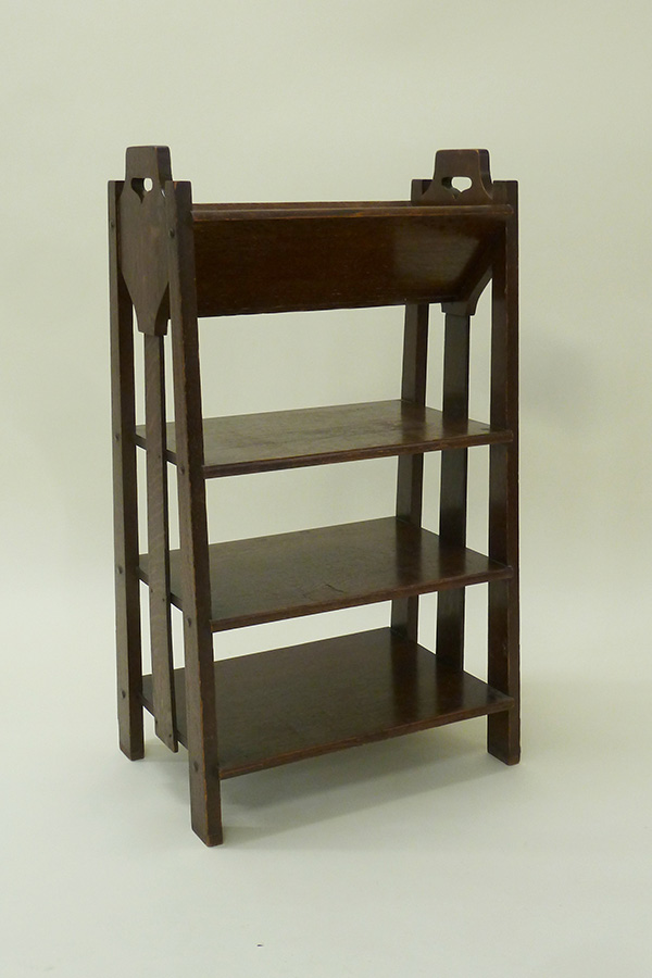 Wood Book and Magazine Holder by Lakeside Craft Shop (ca 1915); T. Patterson
