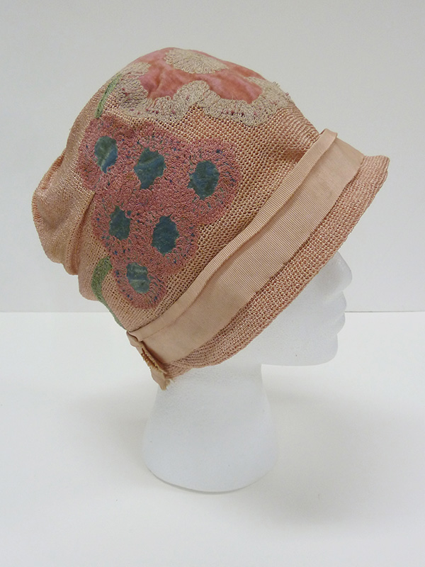 Embroidered Cloche Hat (1920s); Missouri Historic Costume and Textile Collection, University of Missouri, Columbia