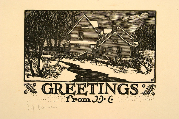 Woodcut Print on Paper by Julius J. Lankes (1925); Museum of Art and Archaeology, University of Missouri, Columbia