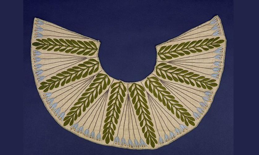 Embroidered Shantung Silk Collar with Silver Beads Designed by Mackay Hugh Baillie Scott (1903); © Victoria and Albert Museum, London